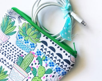 CACTI Square Zipper Pouch *Ready to Ship