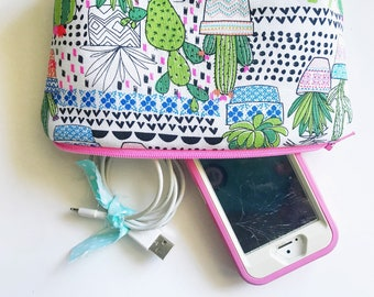 CACTUS & SUCCULENT Zippered Pouch *ready to ship