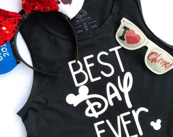 Mickey Best Day Ever Tank for Boys or Girls