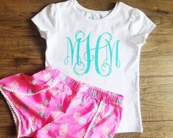 Custom Monogram Toddler Shirt