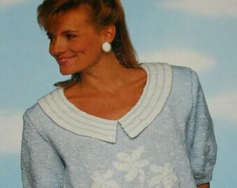e8bf90416cecb Knitting Patterns Sweaters Sunshine Knits Beehive Patons 639 Women Vintage  Paper Original NOT a PDF