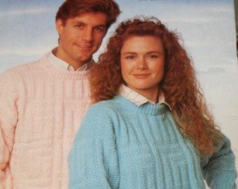 b071c38c413e4 Sweater Knitting Patterns Beehive Patons 622 Women Men Cardigan Tunic  Worsted Weight Yarn Nordic Vintage Paper Original NOT a PDF