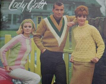 981af7a0f3d11 Sweater Knitting Patterns Cardigan Patterns Treasure Knits Lady Galt 32  Women Men Children Bulky Weight Yarn Paper Original NOT a PDF