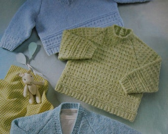 1c252bbb1 Sweater Knitting Patterns Cardigan Baby Children Sizes 16 - 26