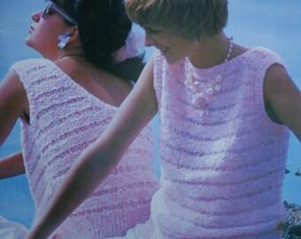 1162e7772e838 Sweater Knitting Patterns Spring Fashion Knits 3 Patons 268 Women Men Vintage  Paper Original NOT a PDF