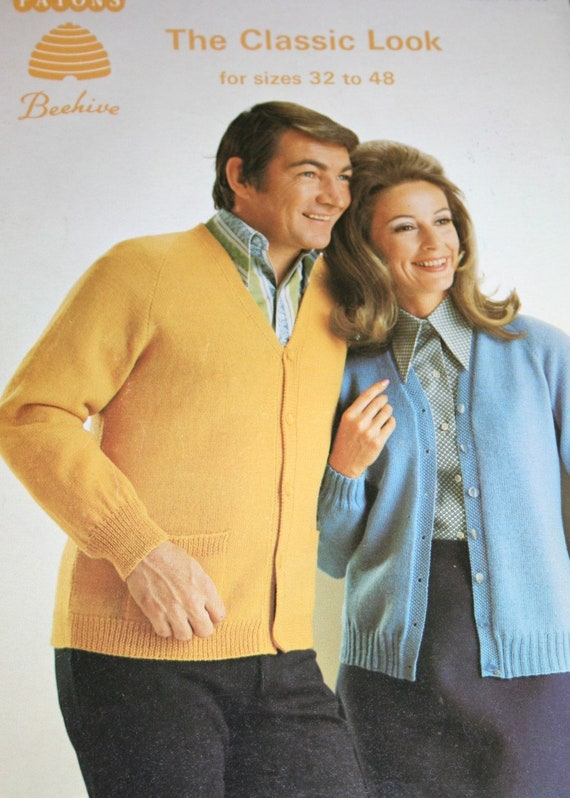 a2f6f6e9d2980a Knitting Patterns The Classic Look Beehive Patons 136 Sweaters