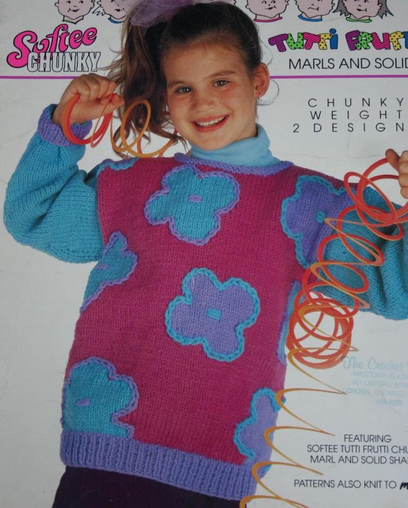616778fda Sweater Knitting Patterns Children Flowers Stripes Bouquet