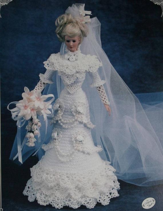 Cotillion Bride Doll Gown for Barbie Crochet PATTERN//Instructions Leaflet
