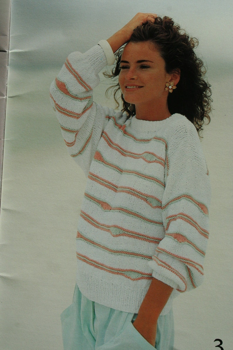 27e03e938da24 Sweater Knitting Patterns Summer Women Cotton Sahara Beehive