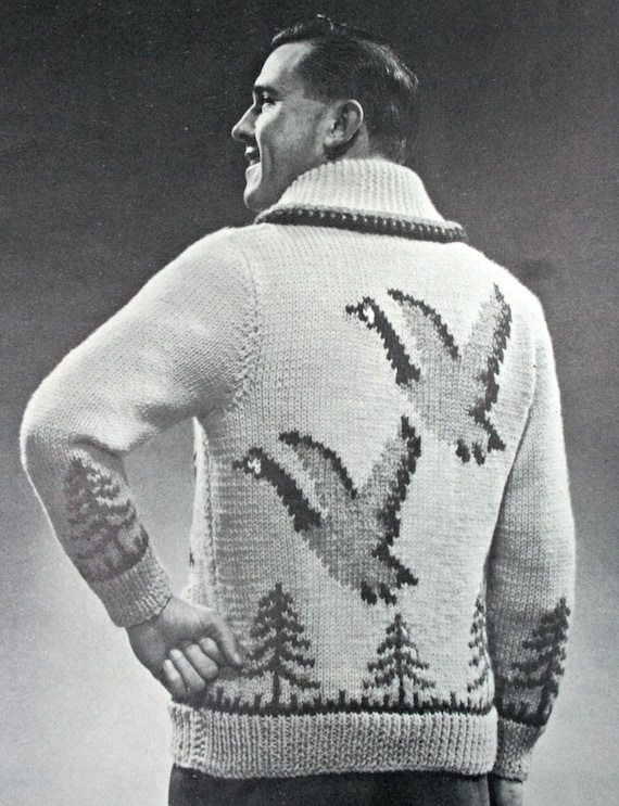Knitting Pattern Canada Goose Sweater by Beehive Chieftain | Etsy