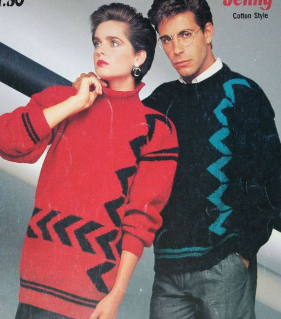 daeb6aac7f9a0 Sweater Knitting Pattern Men Women English French Beehive