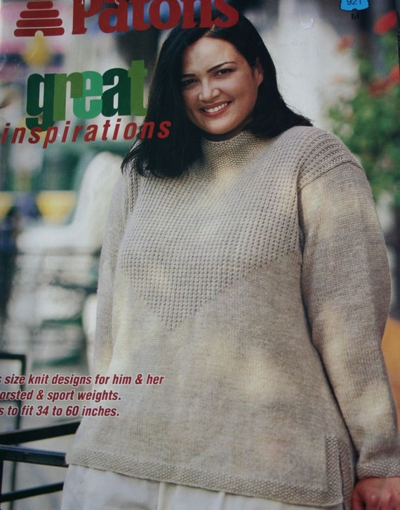Sweater Knitting Patterns Plus Sizes Great Expectations Etsy