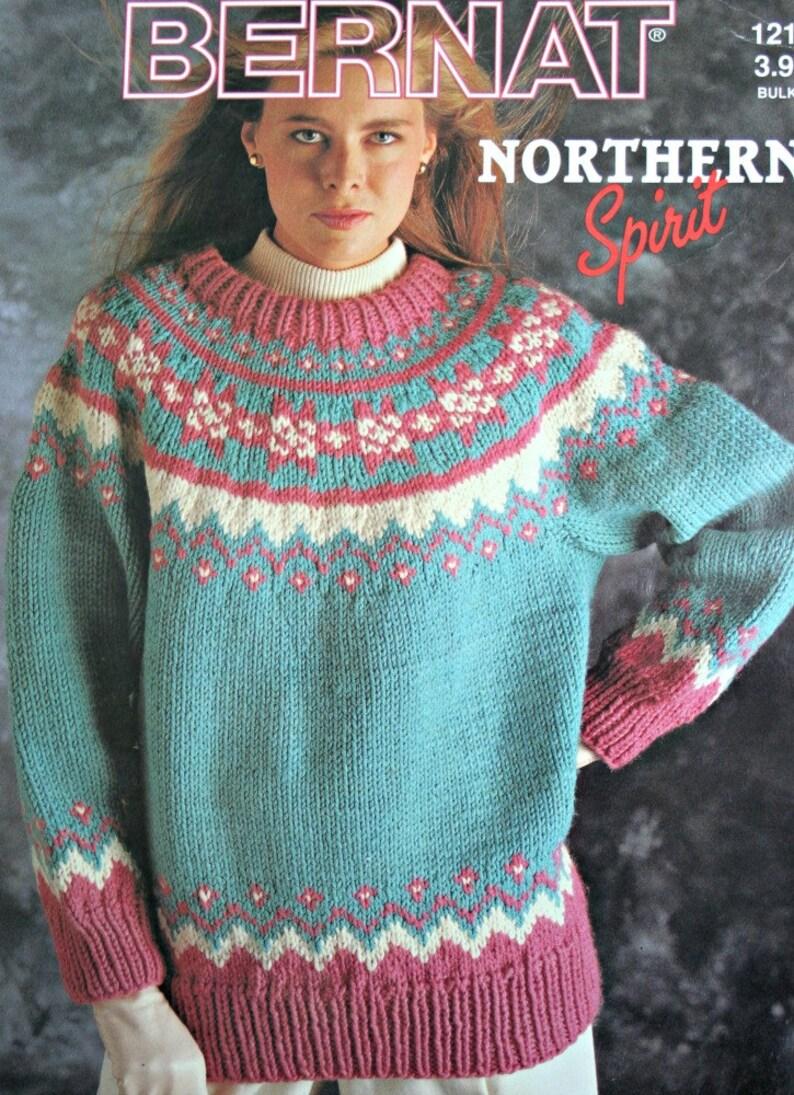 f62ac7bdc7da Sweater and Cardigan Knitting Patterns Northern Spirit Bernat