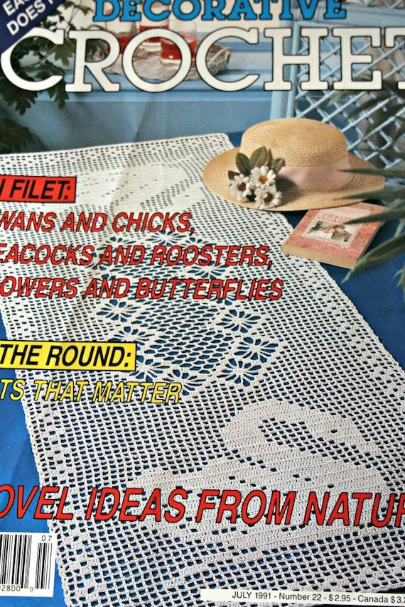 Häkeln Sie Muster Filet häkeln Schwäne Hähne Pfauen | Etsy