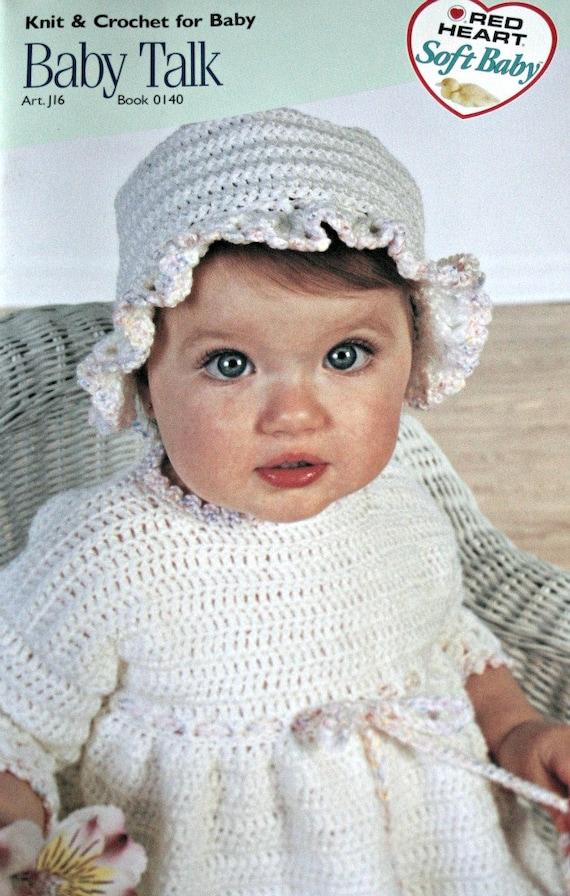 Baby Crochet Patterns Knitting Baby Talk Red Heart 0140 Etsy