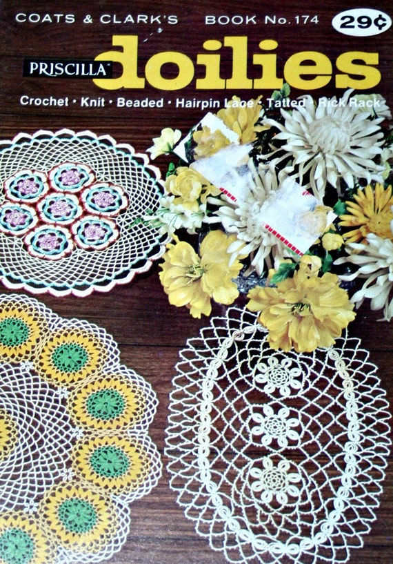 Doilies Patterns Knit Crochet Tatted Hairpin Lace Rick Rack Etsy
