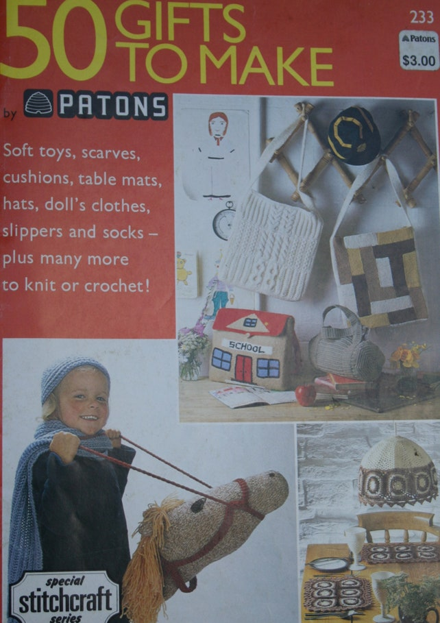 Knitting Patterns Crochet 50 Gifts to Make Beehive Patons 233 | Etsy