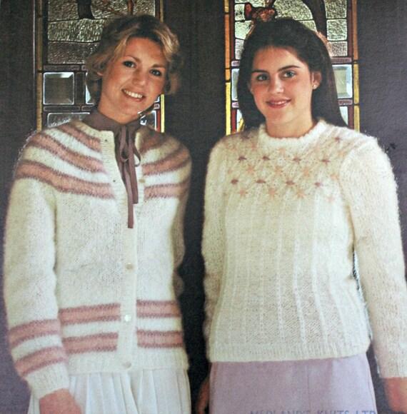 Tejer patrones mujeres hilo dental Mohair suéteres ramo 435