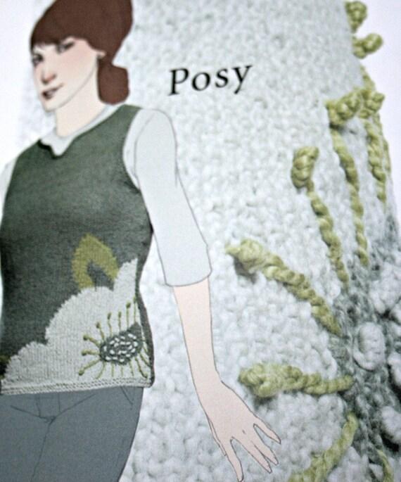 Tejer patrones el ilustrador misión cae mujer papel Original   Etsy