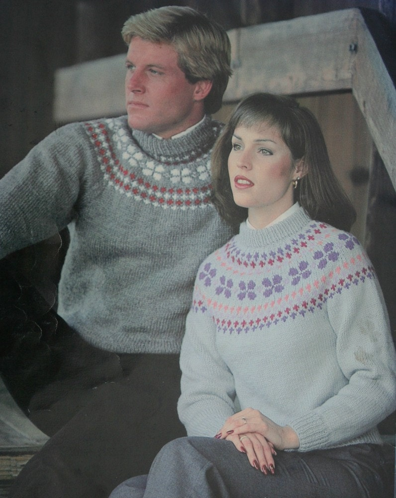 e6cdbe0403ce6 Nordic Sweater Knitting Patterns Sizes 30 44 Inches Leisure