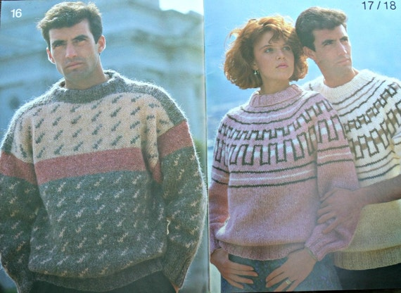 Sweater Knitting Patterns Samband Of Iceland 3 Men Women Etsy