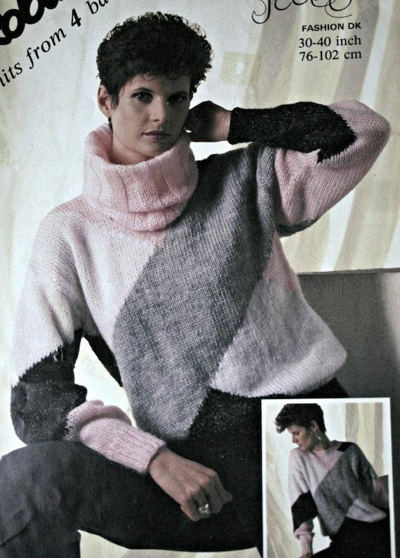 Sweater Knitting Pattern Cowl Robin 13995 Sizes 30 40 Etsy