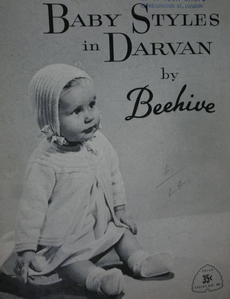57986f0ca Baby Knitting Patterns Baby Styles in Darvan by Beehive 82