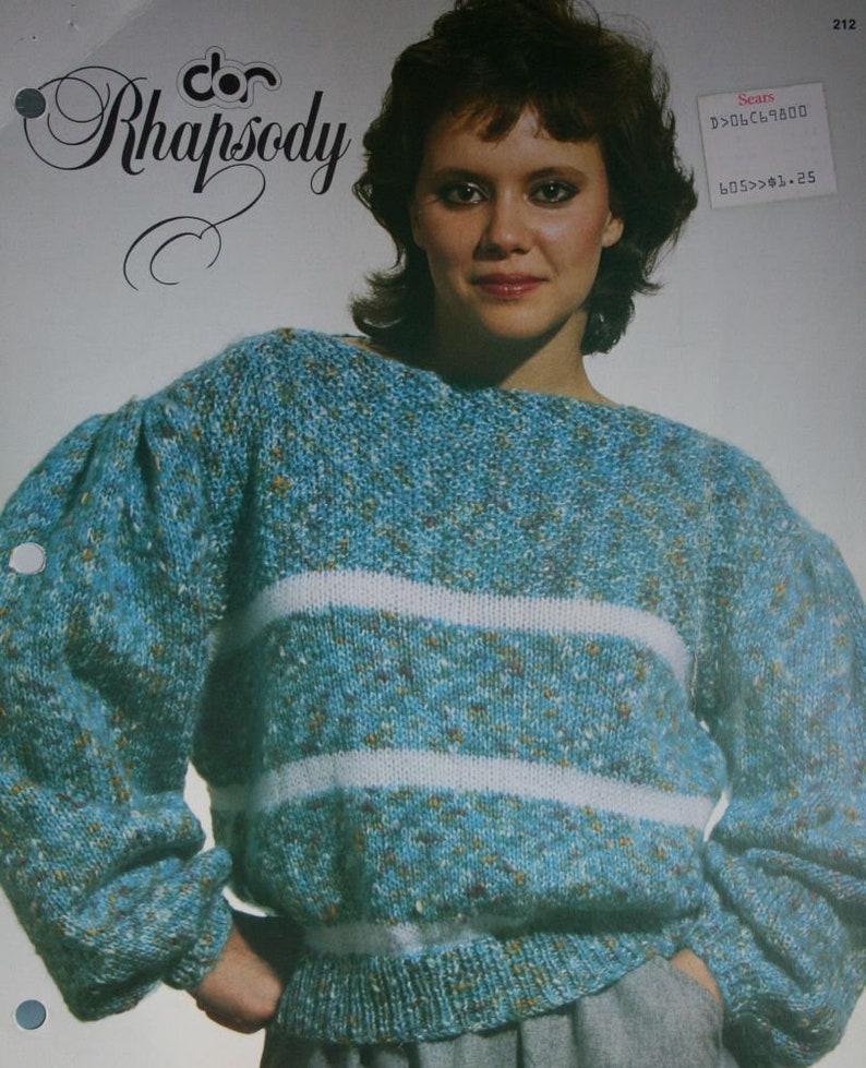 2c5804f20 Sweater Knitting Pattern Boat Neck Rhapsody Laine Dor 212