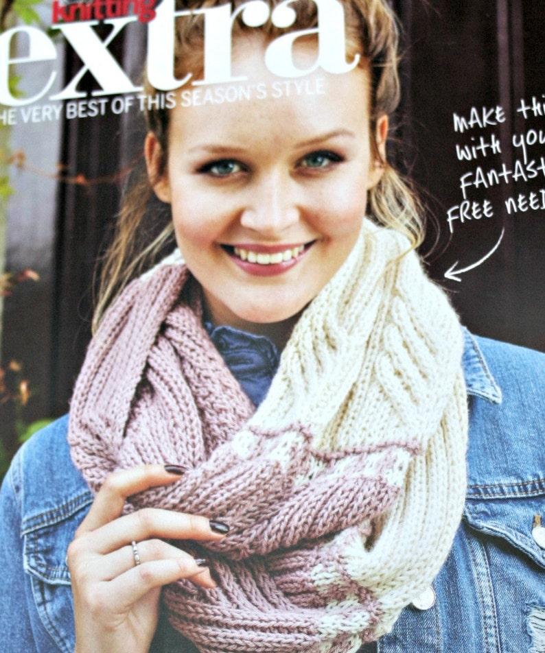 Christmas Cowl Knitting Pattern Simply Knitting Extra DK Weight Yarn  Infinity Scarf Women Men Paper Original NOT a PDF