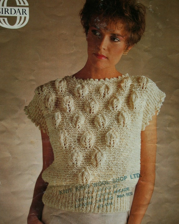 Sweater Knitting Pattern Slipover Knitting Pattern Sirdar Etsy