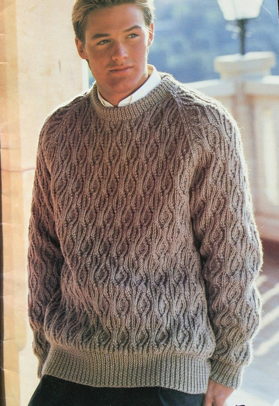 Knitting Patterns Men Sweaters His Favourite Knits Beehive Etsy