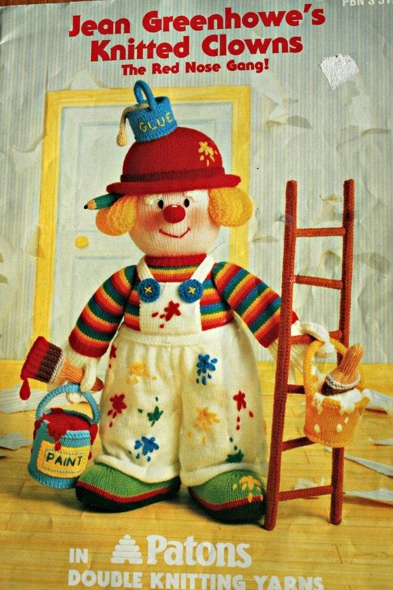 Clown Muster Jean Greenhowe stricken gestrickt Clowns die rote | Etsy