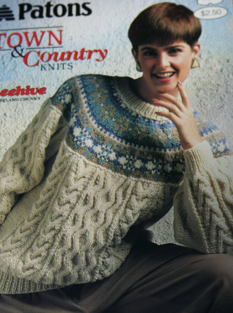 1555b012c6d7 Sweater Knitting Patterns Town   Country Knits Beehive Patons