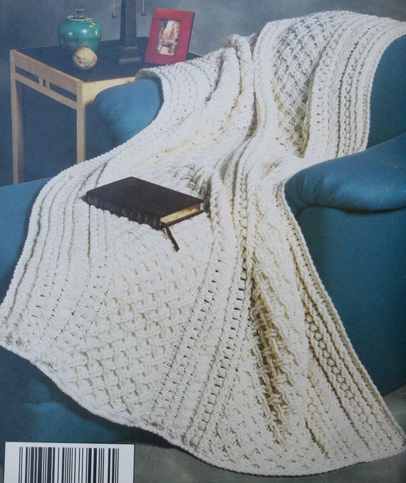 Crochet Patterns Aran Classics Red Heart 1409 Mittens Sweater | Etsy