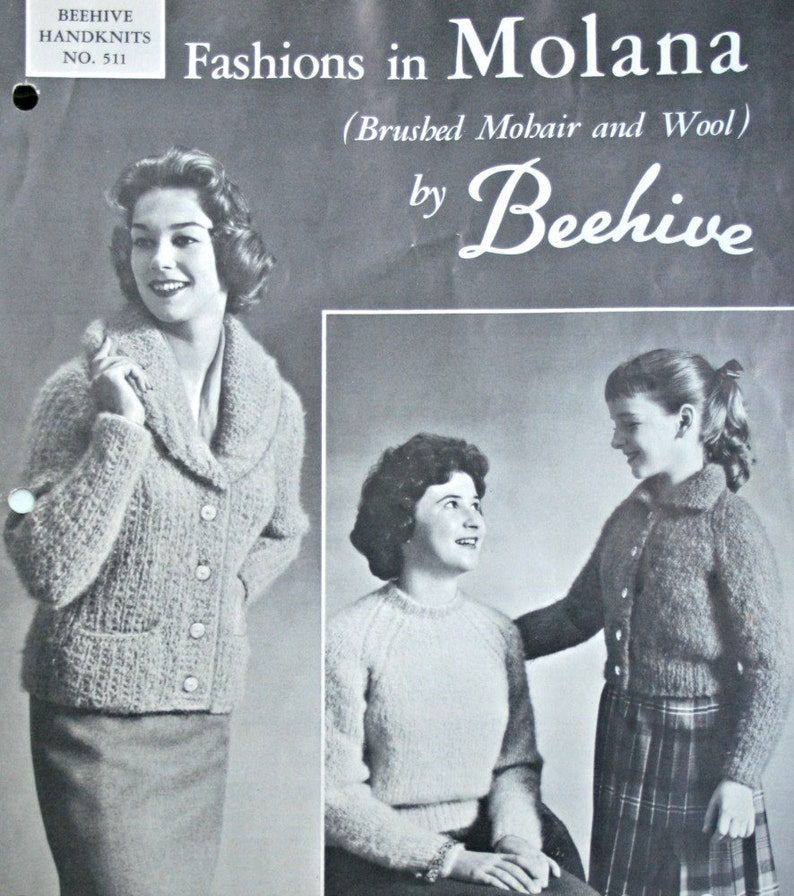 a968353ef4cea8 Sweater Knitting Patterns Beehive Handknits 511 for Women
