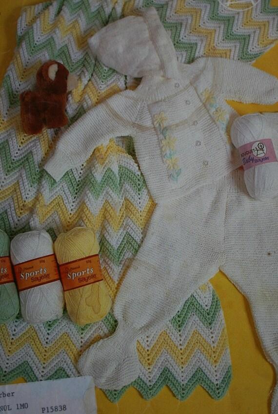 8b30062f34ad Knitting Pattern Baby Set Crochet Baby Blanket Pattern Bouquet