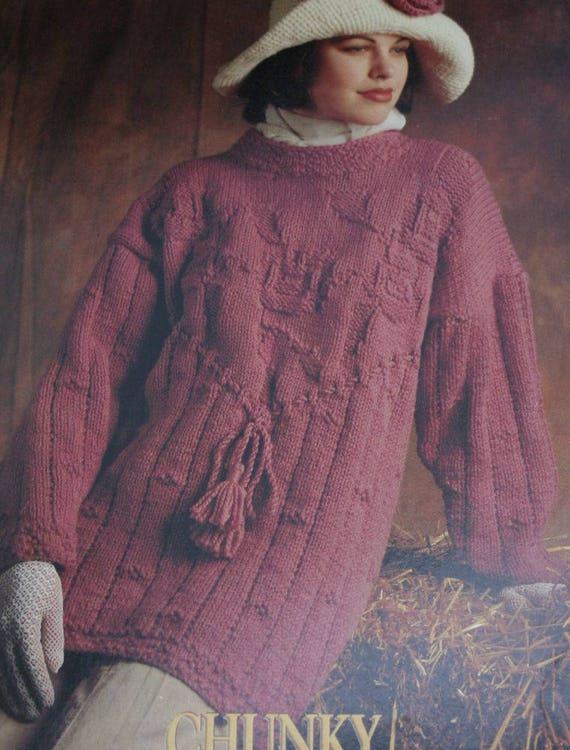 7b4c135242769 Sweater Knitting Patterns Tunic Women Men Bernat 1296 Chunky