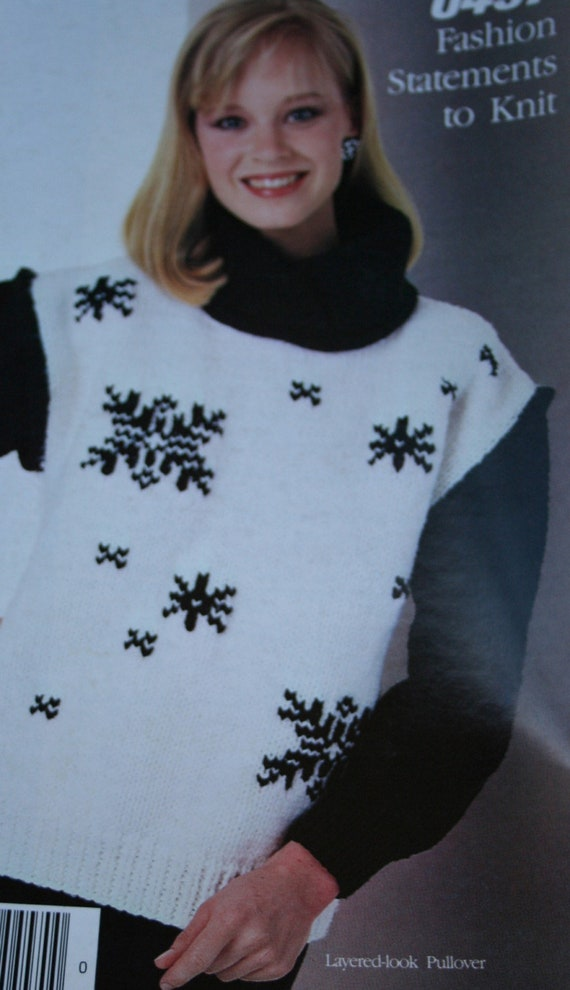 Knitting Patterns Sweaters Vest Cardigan Fashion Statements To Etsy
