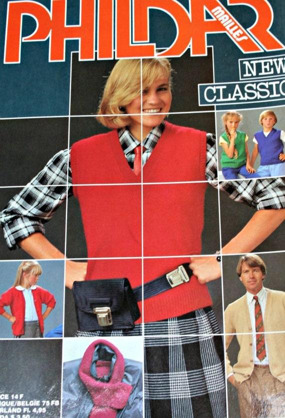Knitting Patterns Family New Classic Phildar Men Women Etsy