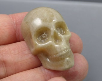Rustic Skull Cabochon - Handmade Fused & Cast Art Glass - Rowanberry Designs - Pendant Upgrade Available - SK1