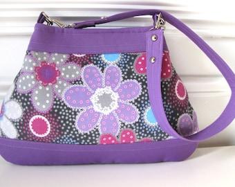 Bold Floral Handbag / Purse in Cotton