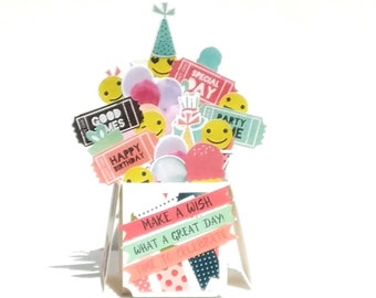 Emoji Cards - Emoji Birthday - Emoji Party - Boxed Card - Card in a Box - Unique Gift Ideas - Birthday - Funny Card - Smiley Face