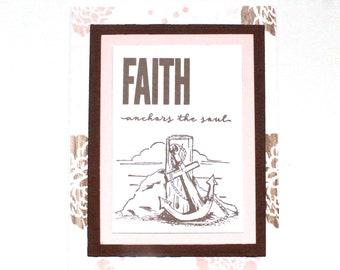 Religious Card, Christian Cards, Motivational Cards, Scripture Cards, Bible card, Prayer Card, Hope & Peace, Faith Card - Anchor