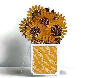 Custom Cards - Boxed Card - Card in a Box - Sunflower -  Unique Gift Ideas – Birthday – Get Well – Thank You - Floral Card - Card for Her