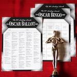 Oscars Ballot and FREE Oscar Bingo Game—Printables for your 2019 Oscar party