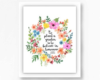 DIGITAL DOWNLOAD PRINTABLE Wall Art Watermark will be removed after purchase. Inspirational Floral Print Wall d\u00e9cor
