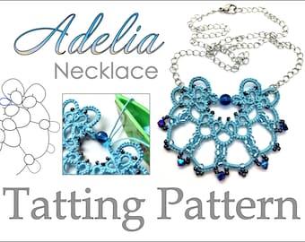 "Tatting Pattern ""Adelia"" Necklace PDF Instant Download"