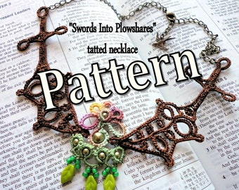 """Tatting Pattern """"Swords Into Plowshares"""" PDF Instant Download"""