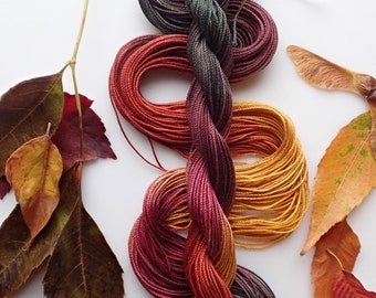 """Size 5 """"Knitty Gritty"""" hand dyed tatting thread 6 cord cordonnet crochet cotton"""