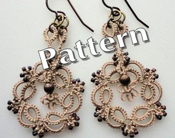 """Tatting Pattern """"Kinetic Earrings"""" PDF Instant Download"""